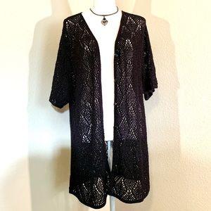🧡Liz Baker Crochet Cardigan